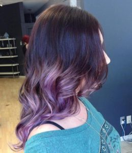 dusty lavender ombre