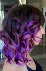 electric purple ombre