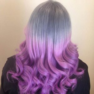 grey and lilac ombre style