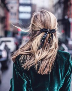 half up bow hairstyle