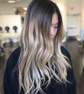 high blonde ombre