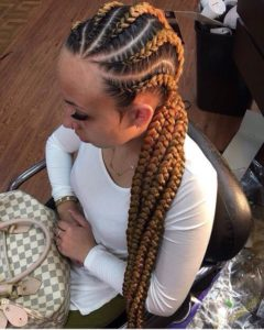 honey blonde braids