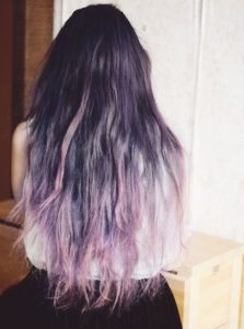 icy periwinkle ombre