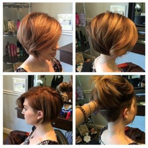 layered bob with undercut
