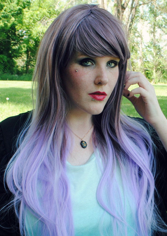 Two Color Hair Dyeing: 30 Luxuriously Royal Purple Ombre Hair Color Ideas