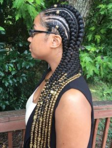 long two tone ghana braids