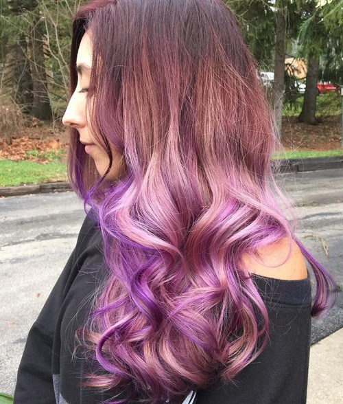 30 luxuriously royal purple ombre hair color ideas. Black Bedroom Furniture Sets. Home Design Ideas