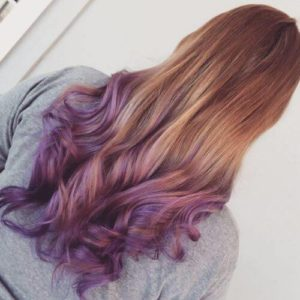 muted grape ombre
