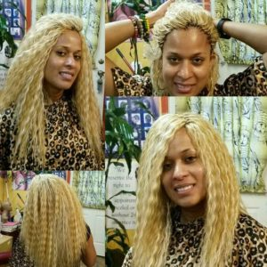 platinum blonde tree braids