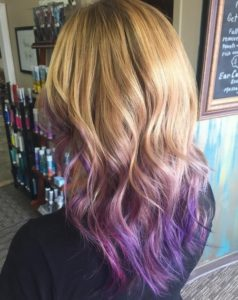 purple ombre ends