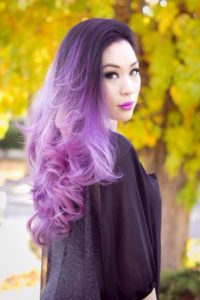 purple on purple ombre style