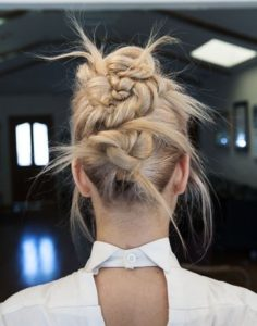 raw twisted updo
