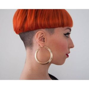 shaved bowl cut