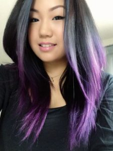 sleek purple on black ombre