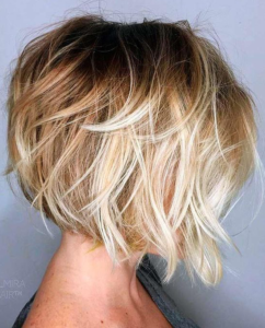 soft dimensional layered bob