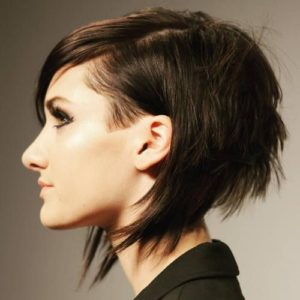 ultra choppy undercut bob
