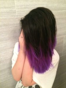 vibrant purple ends