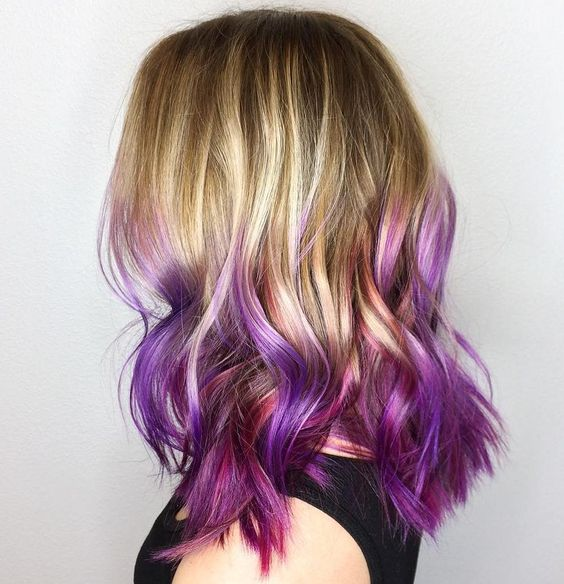 30 Luxuriously Royal Purple Ombre Hair Color Ideas