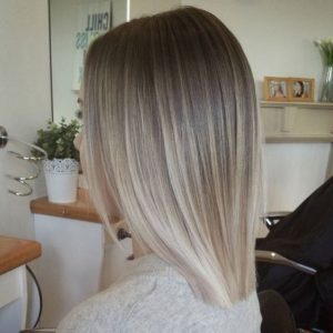Ash blonde color melt