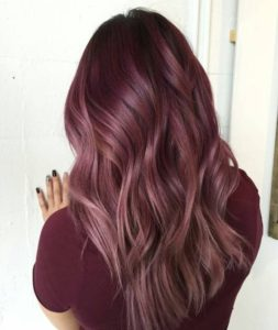 Ashy maroon color melt