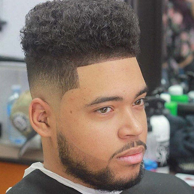16Top Line High Fade Haircut
