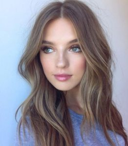 Light Ash Brown with Face Framing Highlights