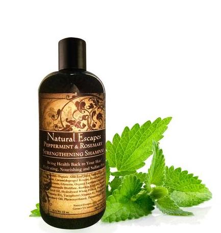 Peppermint & Rosemary Strengthening Shampoo by Natural Escapes