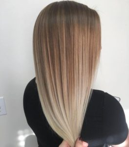 Smooth blonde color melt