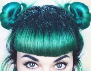 Teal Hair Tips