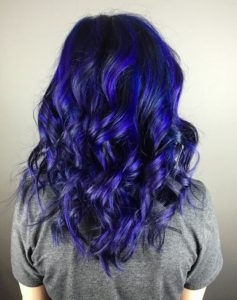 Vibrant blue violet color melt