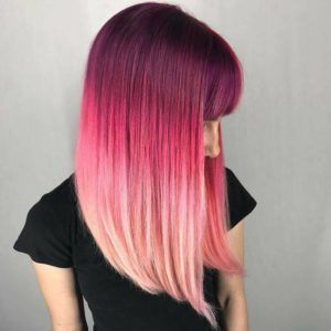 Vibrant pink color melt