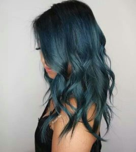 aqua blue color melt