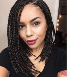asymmetrical box braids