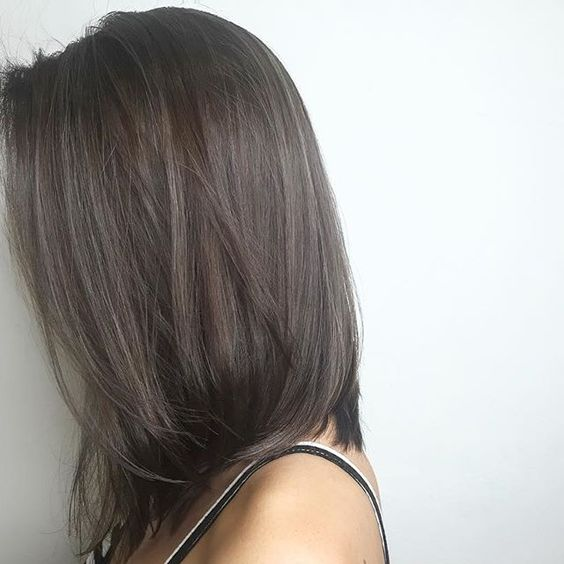 Perfectly Smokey Gray Balayage Hair