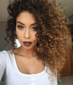 blonde sombre curls