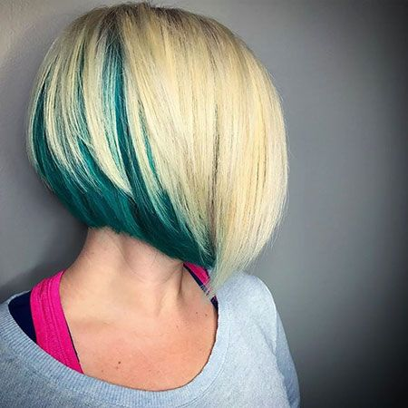 Blonde Hair With Blue Underneath Best Hairstyles 2018