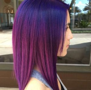 blue to pink color melt