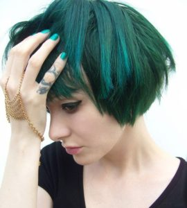 choppy teal bob
