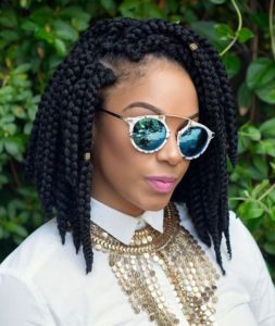 chunky layered box braids