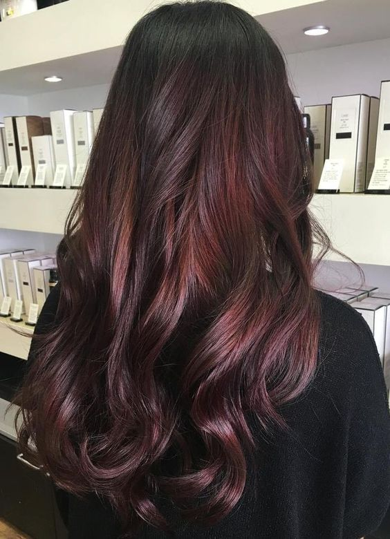 36 Intensely Cool Red Mahogany Hair Color Ideas Part 3