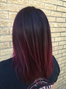 dark maroon color melt
