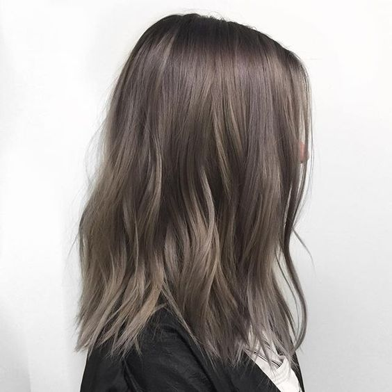 Ashy Hair Color.35 Smoky And Sophisticated Ash Brown Hair