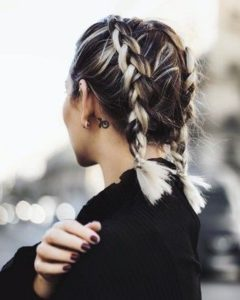dreidimensionale inverted french braids
