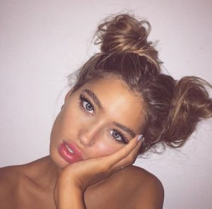 double messy buns