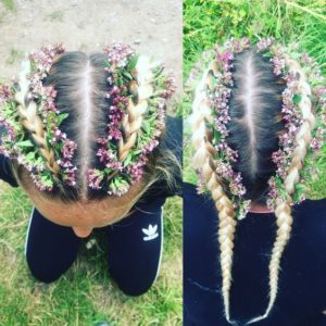 dutch flower braids