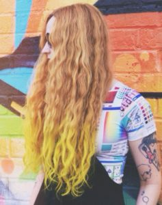 electric banana dip dye