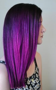 electric purple color melt