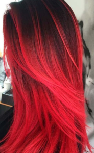 electric red color melt