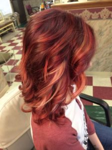 fiery red blonde style