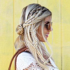 fishtail side braids